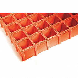 Fiberglass Grating, 96 x 48 In, Orange
