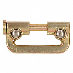 Connector, Gold, Zinc Plated Steel