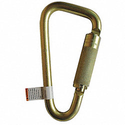 Carabiner, Steel, 6-3/4 In. L, Auto-Lock