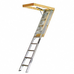 Elite Attic Ladder, 17 In Step Width