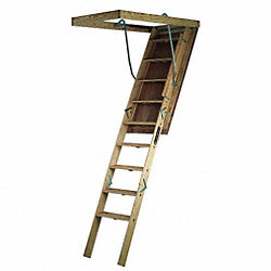 Big Boy Attic Ladder, 7 Ft to 8 Ft 9 In