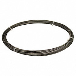 Cable, 7/32 In., 25 ft., 1000 Lb Capacity