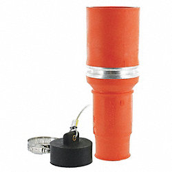 Connector, Single, Female, 0.95 In, Orange