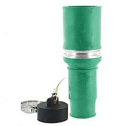 Connector, Single, Female, 1.04 In, Green