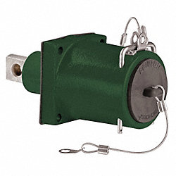 Panel Receptacle, Single, Female, Green