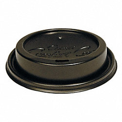 Dome Lid, Plastic, Black, PK 1200