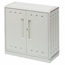 Storage Cabinet, HDPE, Platinum, 35 In