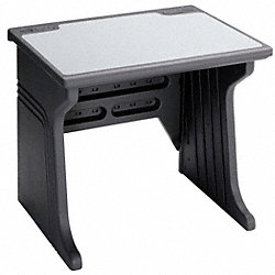 Desk, HDPE, Platinum, 48 In.