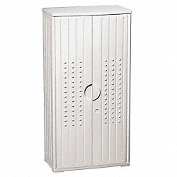 Storage Cabinet, HDPE, Platinum, 66 In