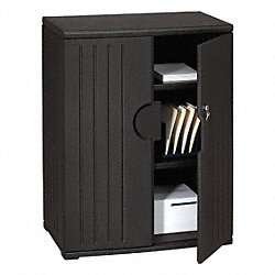 Storage Cabinet, HDPE, Black, 46 In