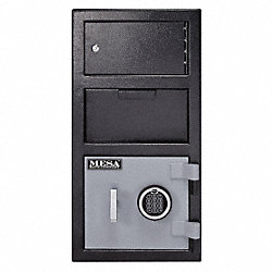 Deposit Safe, 2 Door, 100 lb, Electric Lock