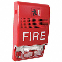 Horn Strobe, Marked Fire, Red