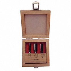 Router Bit Set, Straight, 3 Pc