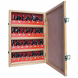 Router Bit Set, Super Delux, 1/2S, 30 Pc