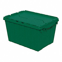 Container, Attached Lid, 12 gal., Green