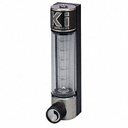 Flowmeter, Water, 2 to 20 GPH, Glass