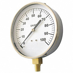 Pressure Gauge, Contractor, 4 1/2In, 200Psi