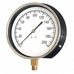 Pressure Gauge, Contractor, 4 1/2 In, 60Psi