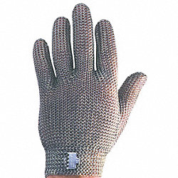Cut Resistant Gloves, Silver, XXS
