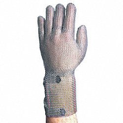 Cut Resistant Gloves, Silver, L