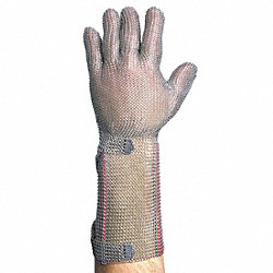 Cut Resistant Gloves, Silver, S
