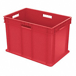 Container, Solid Side/Base, 3.49 cu ft, Red