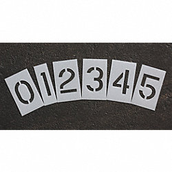 Pavement Stencil, 2 in, Number Kit, 1/8