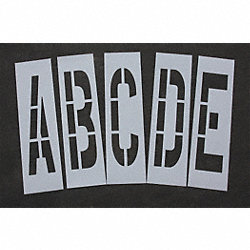 Pavement Stencil, 36 in, Alpha Kit, 1/8
