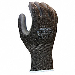 Cut Resistant Gloves, Gray/Black, L