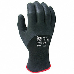 Coated Gloves, XL, Black On Black, PR