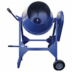 Concrete Mixer, 3 Cu. Ft., Electric, 1/3HP