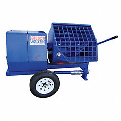 Mortar Plaster Mixer, 12 Cu. Ft., Gas, 8HP
