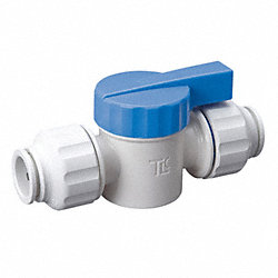 Straight Valve, PF, 3/8 x 1/2, Poly, White