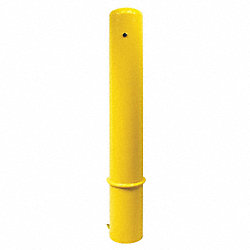Bollard, Removable, Dome, 36 In H, Yellow