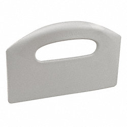 Bench Scraper, Poly, 8-1/2 x 5, Gray