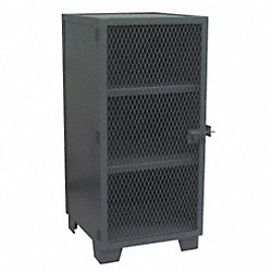 Security Cabinet, 3 Shelf, 24x24, Black