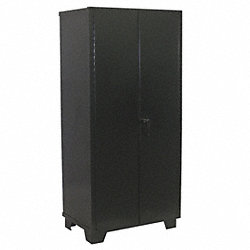 Storage Cabinet, 4 Shelf, 78x60x24, Black