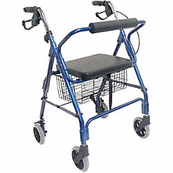 Rollator, Ultra Lgtwt, Alum., Royal Blue