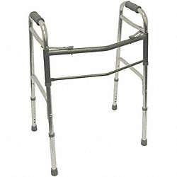 Bariatric Folding Walker, Aluminum, Silver