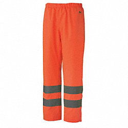Insulated Rain Pants, Hi-Vis, Orange, XS