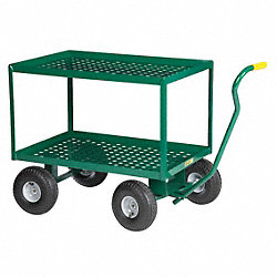 Wagon Truck, Perf Deck, 36x24, Pneum Wheel