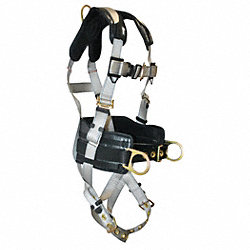 Full Body Harness, S/M, 310 lb., Silver