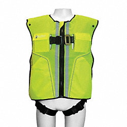 Full Body Harness, L/XL, 310 lb., Lime