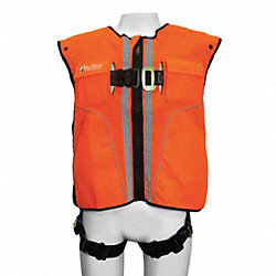 Full Body Harness, L/XL, 310 lb., Orange