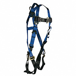 Full Body Harness, Universal, 310 lb., Blue