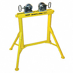 Pipe Stand, SS Wheel, 36 In, 2000 Lb Cap