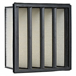 V Bank Air Filter, 20 In. H, 24 In. W