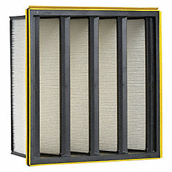 V Bank Air Filter, 24 In. W, 12 In. H