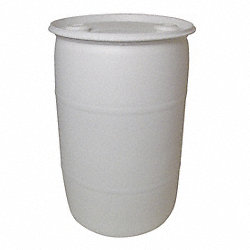 Poly Drum, Closed Head, 30 Gal, White