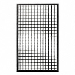 Wire Partition Panel, W 5 Ft x H 7 Ft
